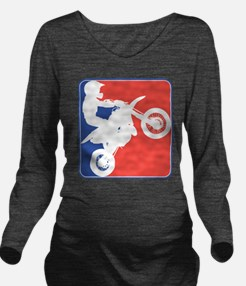 PeeWee Motocross Long Sleeve Maternity T-Shirt
