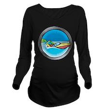 Speed Boat 2 Long Sleeve Maternity T-Shirt