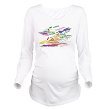 Motor Boat Long Sleeve Maternity T-Shirt