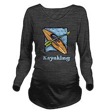 Kayaking Long Sleeve Maternity T-Shirt