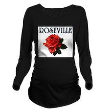 Funny Roseville Long Sleeve Maternity T-Shirt