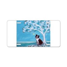 Border Collie Tree of Life Aluminum License Plate