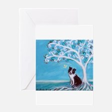 Border Collie Tree of Life Greeting Cards