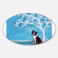 Border Collie Tree of Life Decal