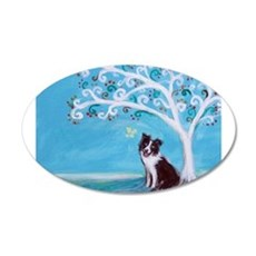 Border Collie Tree of Life Wall Decal
