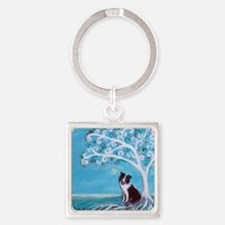 Border Collie Tree of Life Keychains