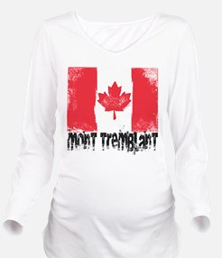 Mont-Tremblant Grunge Flag Long Sleeve Maternity T