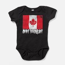 Mont-Tremblant Grunge Flag Baby Bodysuit