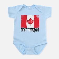 Mont-Tremblant Grunge Flag Infant Bodysuit
