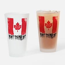 Mont-Tremblant Grunge Flag Drinking Glass