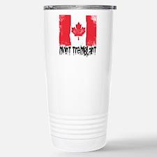 Mont-Tremblant Grunge Flag Travel Mug
