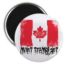 Mont-Tremblant Grunge Flag Magnet