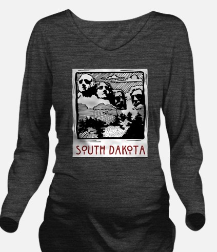 South Dakota Mount Rushmore Long Sleeve Maternity