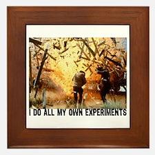 I DO ALL MY OWN EXPERIMENTS 2 Framed Tile