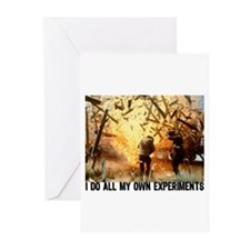 I DO ALL MY OWN EXPERIMENTS 2 Greeting Cards (Pack