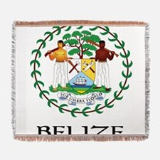 Coat of arms of Belize Woven Blanket