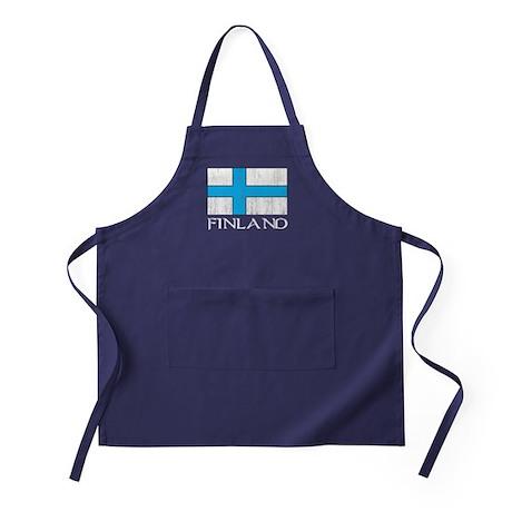 Finland Flag Apron (dark)