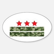 DC flag camouflage Decal