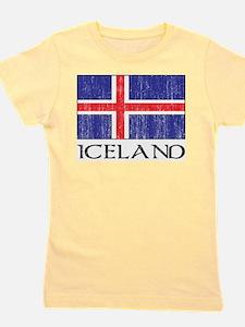 Iceland Flag Girl's Tee