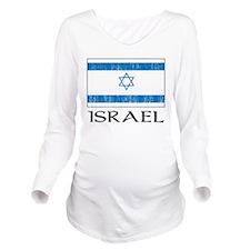 Israel Flag Long Sleeve Maternity T-Shirt