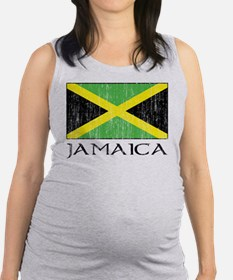 Jamaica Flag Maternity Tank Top