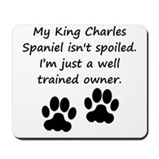 Well Trained King Charles Spaniel Owner Mousepad