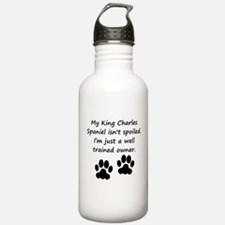 Well Trained King Charles Spaniel Owner Water Bott