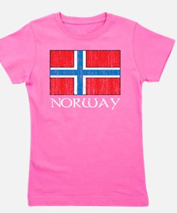 Norway Flag Girl's Tee