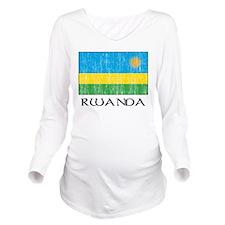 Rwanda Long Sleeve Maternity T-Shirt