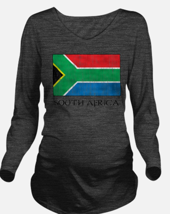 South Africa Flag Long Sleeve Maternity T-Shirt