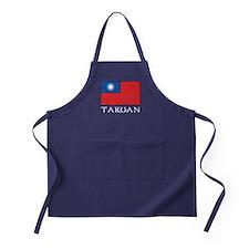 Taiwan Flag Apron (dark)