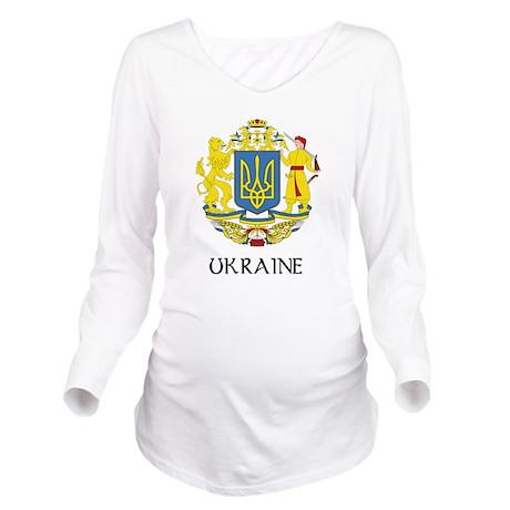 Coat of Arms of Ukraine Long Sleeve Maternity T-Sh