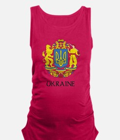 Coat of Arms of Ukraine Maternity Tank Top