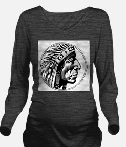 Indian Head Long Sleeve Maternity T-Shirt