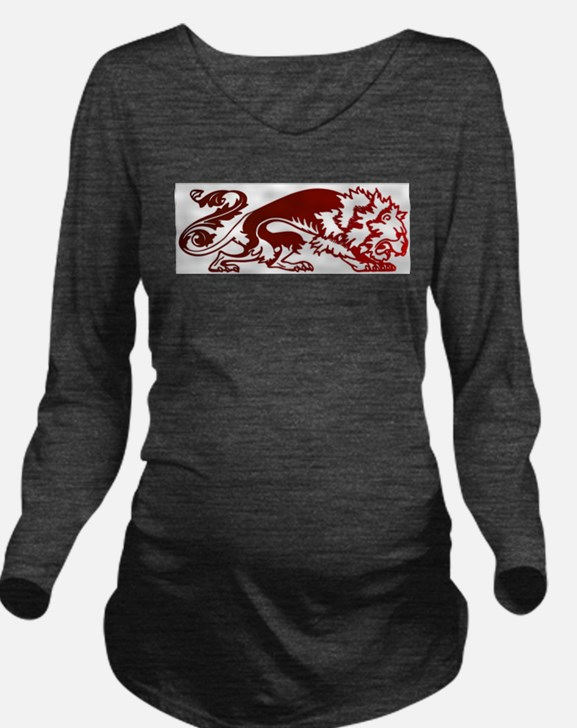 Red Lion Long Sleeve Maternity T-Shirt