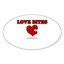 Love Bites Oval Decal