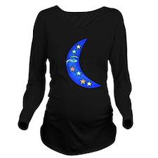Starry Moon Face Long Sleeve Maternity T-Shirt