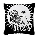 Leo Woven Throw Pillow