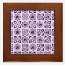 LAVENDER LOTUS Framed Tile
