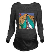 Southwestern Indian Long Sleeve Maternity T-Shirt