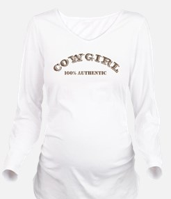 Cowgirl 100% Authentic Long Sleeve Maternity T-Shi