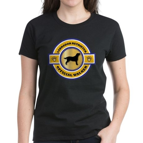 Labrador Walker Women's Dark T-Shirt