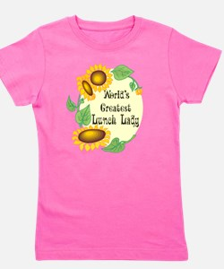 Worlds Greatest Lunch Lady Girl's Tee
