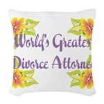 Worlds Greatest Divorce Atto Woven Throw Pillow