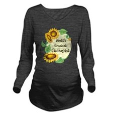 Worlds Greatest Therapist Long Sleeve Maternity T-