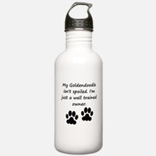 Well Trained Goldendoodle Owner Water Bottle