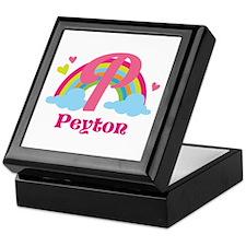 Personalized P Monogram Keepsake Box