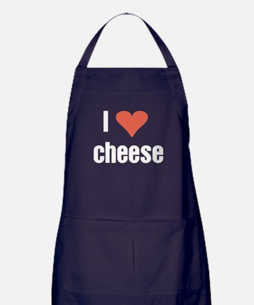 I Love cheese Apron (dark)