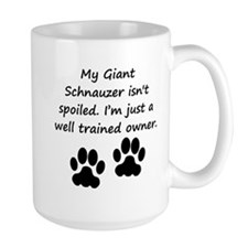 Well Trained Giant Schnauzer Owner Mugs