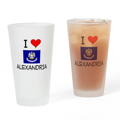 I Love ALEXANDRIA Louisiana Drinking Glass